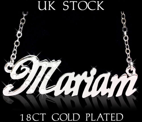 MARIAM NAME NECKLACE Asian//Arabic Fashion Designer Identity Gifts For Her Eid