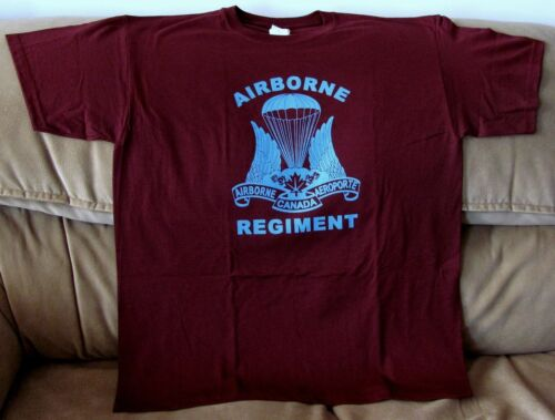Canadian Airborne Paratrooper Maroon  T-Shirt