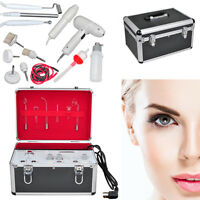 Pro 5in1 High Frequency Galvanic Vacuum Spray Facial Salon Beauty Machine Kit Us