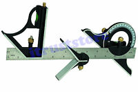 Steel Machinist Combination Try Tri Square Ruler Measuring Angle Tool Rule
