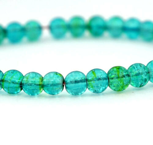 45 Crackle Glass Beads In Simply Stunning Tones of Sea Blue BD838