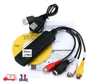 USB-VHS-Tapes-To-PC-DVD-Convertisseur-Audio-Video-3-RCA-HD-DVR-Carte-de-Capture