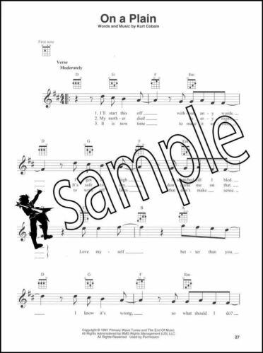 Nirvana for Ukulele Sheet Music Book Chord Boxes Sliver Sappy Dumb Lithium