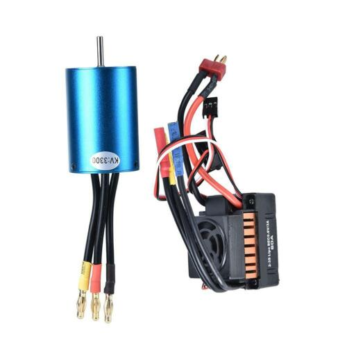 2019 RC Car 540 Brushless Motor 60A ESC for WLtoys 1//18 A959 A979 A969 Vehicle