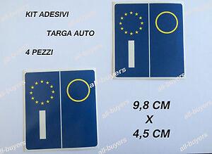 KIT4-PEZZI-ADESIVI-ADESIVO-PVC-PER-TARGA-EUROPA-AUTO-STICKERS-BMW-AUDI-mercedes