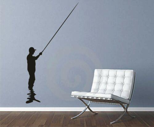 винил искусства большие настенные наклейки настенная искусства настенная наклейка Рыбалка