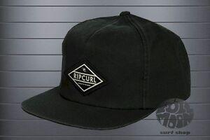 e37cea783 Details about New Rip Curl Men's Undertow Black Snapback Cap Hat