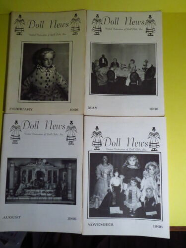 Vintage 4 Doll News 1966 Quarterly Magazine United Federation of Doll Clubs