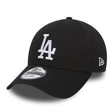 NEW Era 9Forty Da Uomo Baseball cap.genuine LA Dodgers Nero CURVO REGOLABILE CAPPELLO
