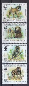 Cameroun 1988 Tamponné Minr. 1155-1158 Drill Wwf
