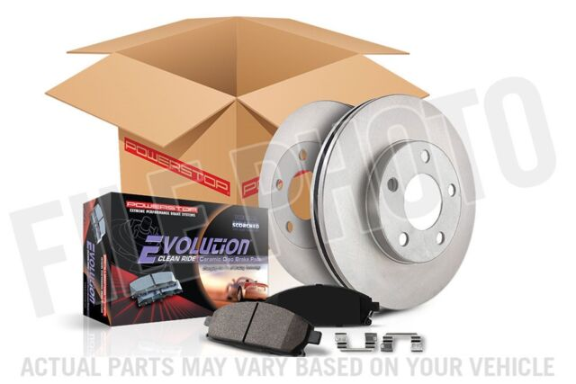 Power Stop KOE8160 Autospecialty Front /& Rear Kit Rotors and Ceramic Brake Pads