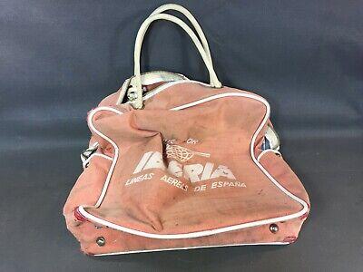 Alt Handtasche Reise Werbung Spanisch Liberia Vintage Gepäck GroßEs Sortiment