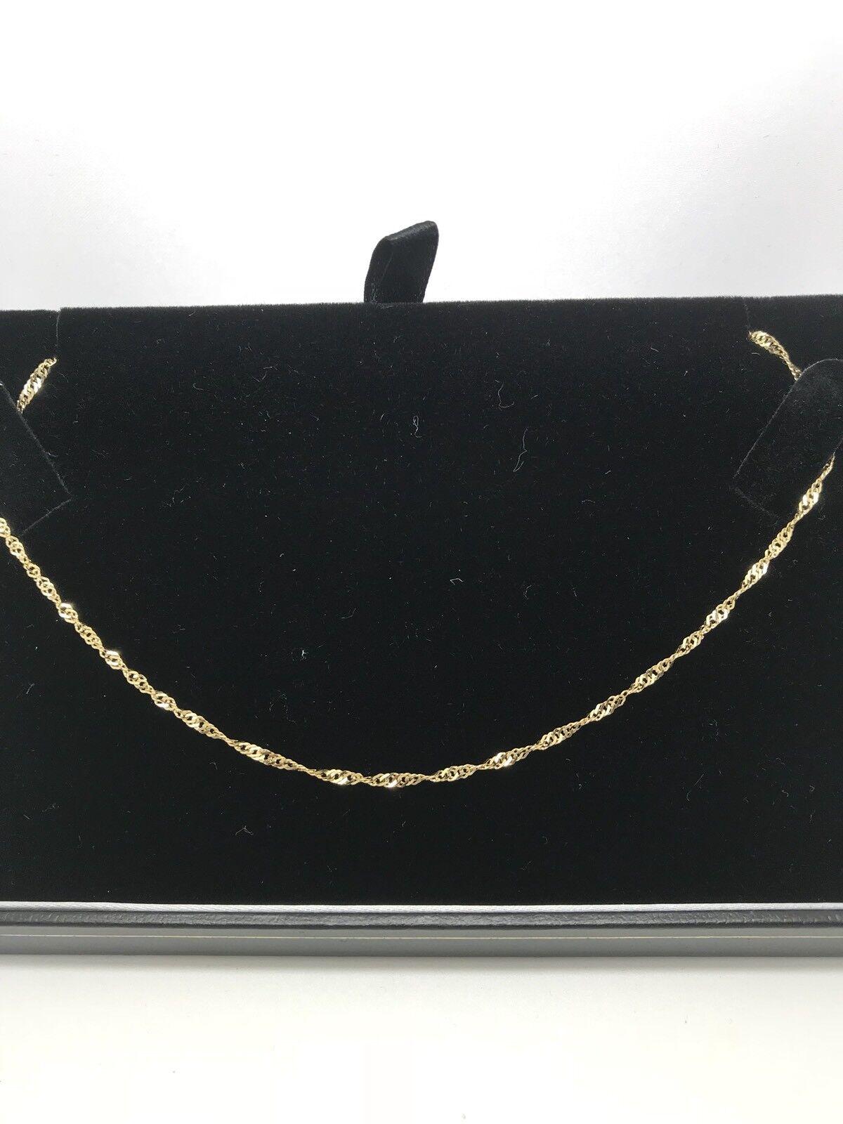 9 KT oro GIALLO 16 in (ca. 40.64 cm) twist twist twist chain 574ab4