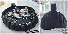 TRAVEL MAKE UP BAG * PADDED DRAWSTRING COSMETIC TOILETRIES CARRIER CASE VANITY