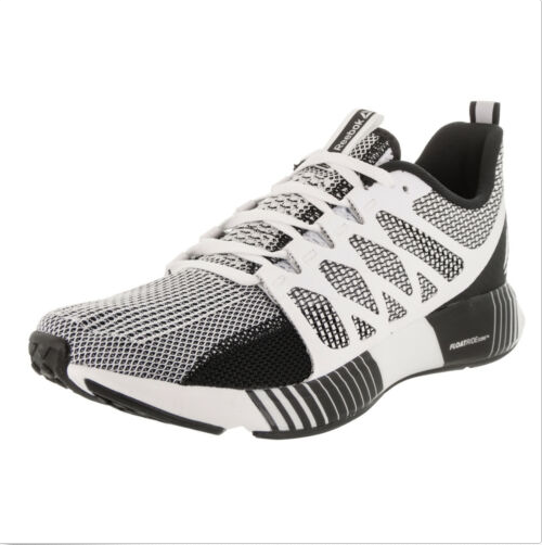 Reebok Men's Fusion Flexweave Cage Running shoes Size 10.5 color Black & White.