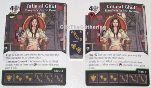 2x TALIA AL GHUL DAUGHTER OF THE DEMON 72//124 Batman Dice Masters DC