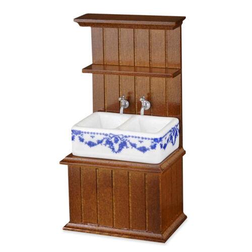Reutter porcelana fregadero de cocina en blanco small sink 1:12 muñecas Tube Art 1.742//9