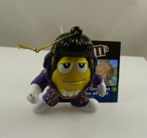 Elvis-M-amp-M-holiday-ornament-Christmas-ornament-Kurt-S-Adler-MM-yellow-purple