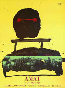 FREDERIC-AMAT-Galeria-Joan-Prats-Barcelona-1989-Lithografie-signiert