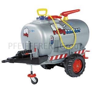 Rolly-Toys-rollyTrailer-Tanker-Guellefass-silber-mit-Pumpe