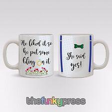 Verlobung His and Hers Becher Tasse Tee Kaffee-Set Braut und Bräutigam Hochzeit