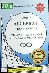 Algebra 1 Regents Exam Review JD's! 2019 Edition 9 Exams ...