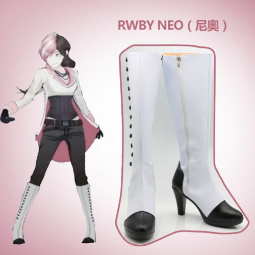 new RWBY Neo Cosplay Costume Boots Boot Shoes  MM.146 Hot