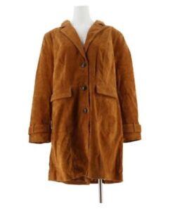 Front 18 Duster Mizrahi Suede Camel Jacket Botton Isaac Live Plus IwZ46q