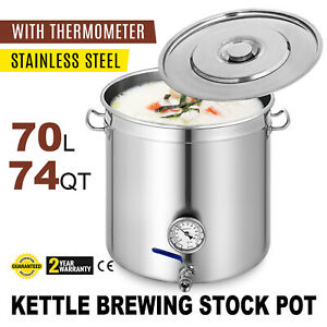 New-VEVOR-Stainless-Steel-Home-Brew-Kettle-Brewing-Stock-Pot-Beer-Set
