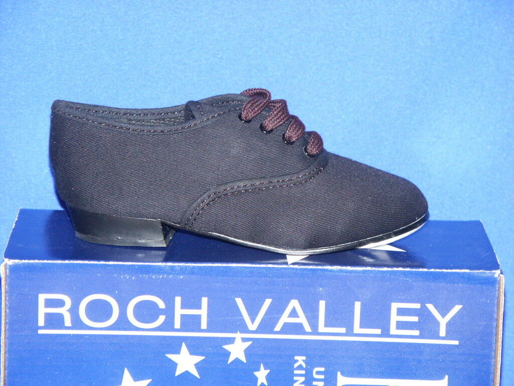 Roch Valley Boys Black Canvas Tap Shoes