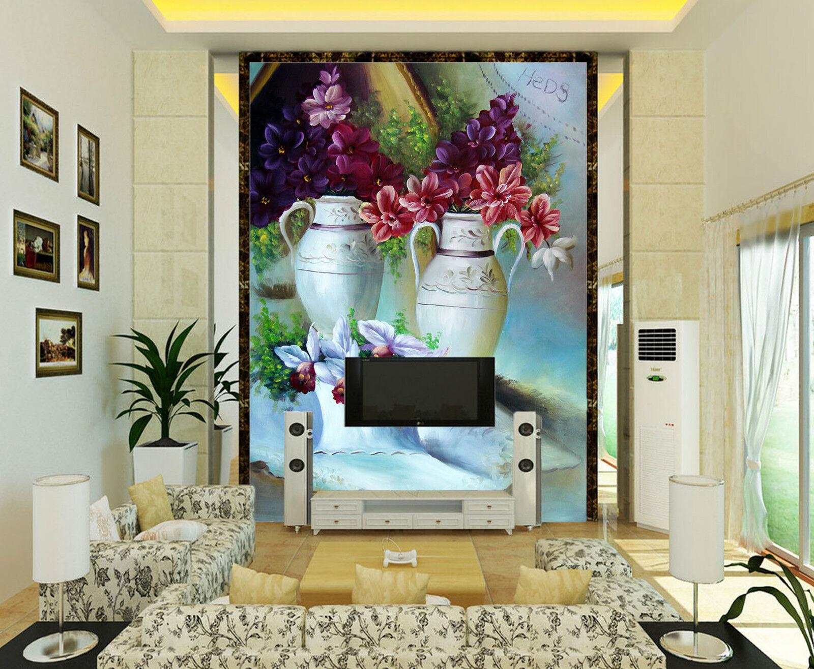 3D Drei Vasen 40988 Fototapeten Wandbild Fototapete BildTapete FamilieDE