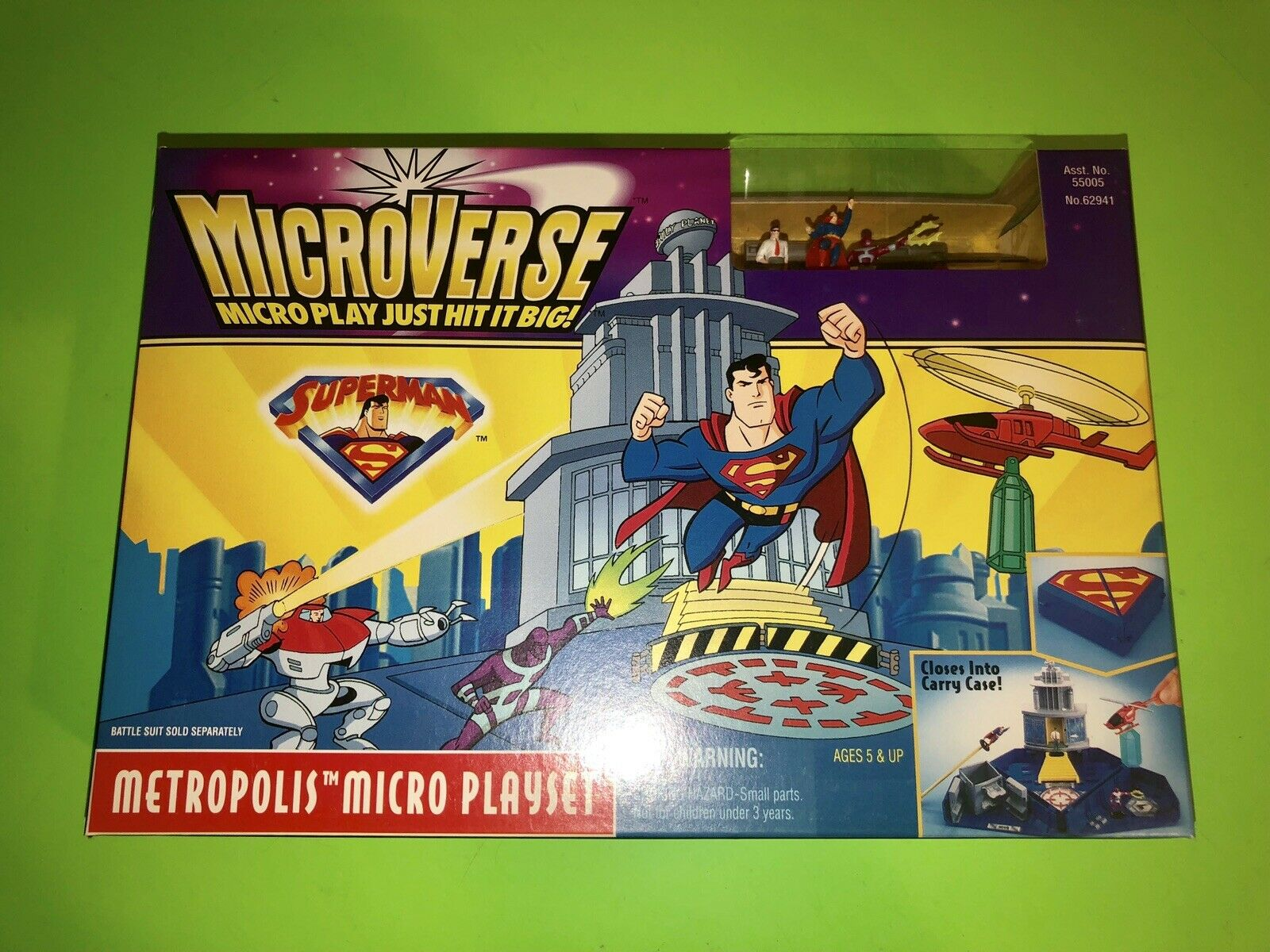 Superman MicroVerse Metropolis Micro Playset by Kenner 1996  NEW SEALED