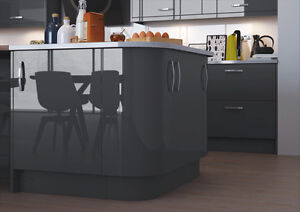 Image Is Loading New High Gloss Vivo Anthracite Kitchen Doors And
