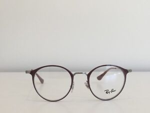 145a432935 A90 Ray Ban RB 8378 2907 Round Brown Silver Eyeglasses Optical Frame ...