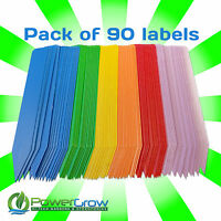 Plant Labels - Multi Colored 4 Plant Marker Label Stakes - Pack Of 90