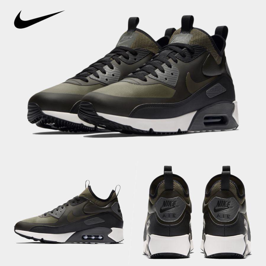 Nike Air Max 90 Ultra Mid Winter Running Sneakers Khaki 924458-300 Sz 4-13
