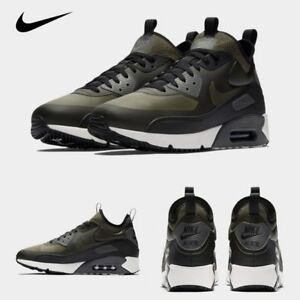 new arrival 0d6e1 a50f3 Details about Nike Air Max 90 Ultra Mid Winter Running Sneakers Khaki  924458-300 Sz 4-13
