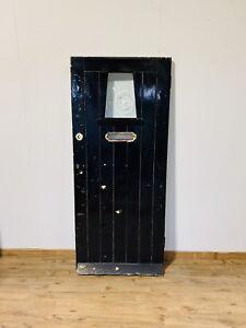 Awe Inspiring Black Front Door Wooden Hardwood 1930S Edwardian Victorian Porthole Period Old Ebay Door Handles Collection Olytizonderlifede