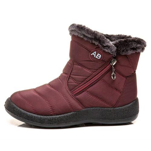 Warm Plush Waterproof Women Ankle Snow Boots Platform Cotton Padded Shoes