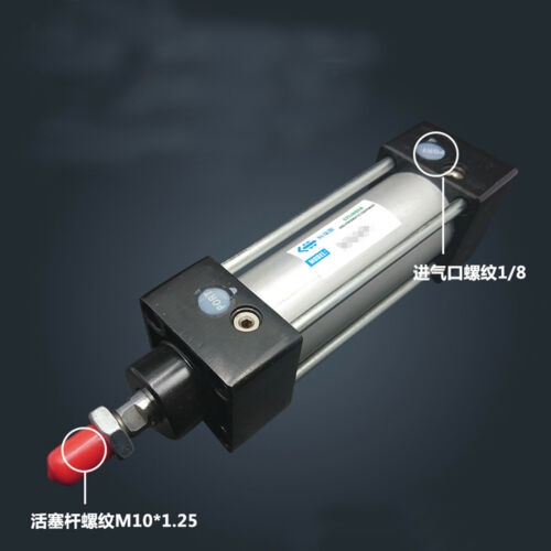 SC321000 Bore 32mm Stroke 1000mm Single Thread Rod Dual Action Air Cylinder