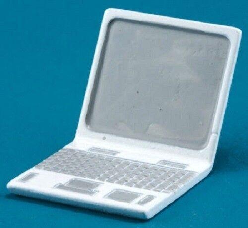 1:12 Scale Dollhouse Miniature White Laptop Computer
