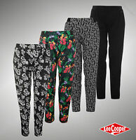 New Ladies Designer Lee Cooper Lightweight Harem Trousers Cotton Pants Size 8-18