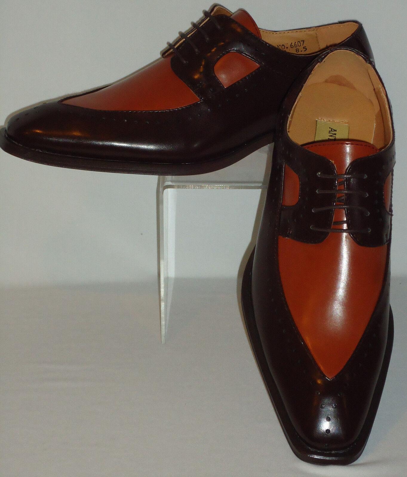 vendita online risparmia il 70% Mens Cognac, Marrone Wingtip scarpe Antonio Cerrelli 6607 6607 6607 Dimensione 8.5 9 9.5 10 10.5 11  shopping online di moda