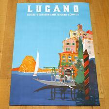 LUGANO poster manifesto affiche Suisse Switzerland Lake Turismo Svizzera Lago