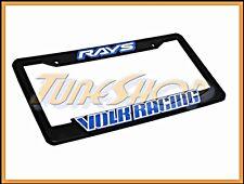 1 X VOLK RACING RAYS WHEELS NUTS LICENSE PLATE FRAME BLUE TE37 CE28N RE30 SF GT