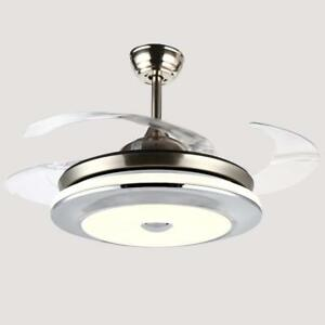 36 Quot Modern Ceiling Fan Light Led Dimmable Remote Control