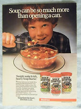 1985 Magazine Advertisement Ad Page Beatrice Soup Starter Beef Vegetable Boy