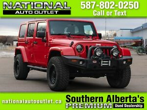 2012 Jeep Wrangler Unlimited Sahara AFTERMARKET RIMS AND TIRE...