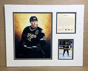 Dallas Stars Mike Modano 1995 Hockey 11x14 MATTTED Kelly Russell Print