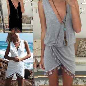New-UK-Women-Beachwear-Swimwear-Bikini-Beach-Wear-Cover-Up-Kaftan-Summer-Dress